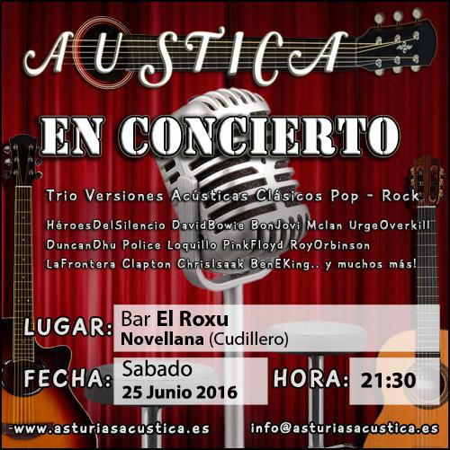 Banner concierto trio musica cudillero 2016